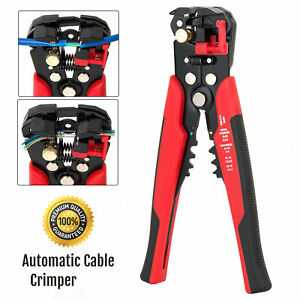 Self-Adjustable Automatic Cable Wire Crimper Crimping Tool Stripper Plier Cutter 5060562120115