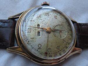 Corona-Triple-Date-mens-wristwatch-gold-filled-case-load-manual