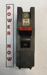 Ships Today Federal Pacific FPE Stab-Lok Breaker 1 Pole 20 Amp 120V Thick