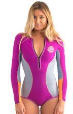 Rip Curl G-Bomb L/S Springsuit - Size 4, 6, 10, 12  Purple 1mm Wetsuit NVY