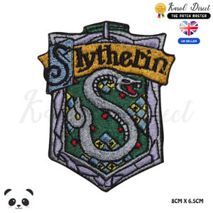 Harry-Potter-Slytherin-Embroidered-Iron-On-Sew-On-Patch-Badge-For-Clothes-etc