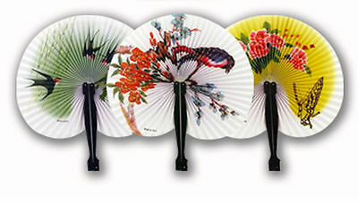 6 Paper Chinese Folding Fans - Loot/Party Bag Fillers Wedding/Kids
