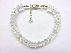 Bergkristall-facettiert-Armband-18-5-20-5-cm-Rock-Crystal-Bracelet-4105
