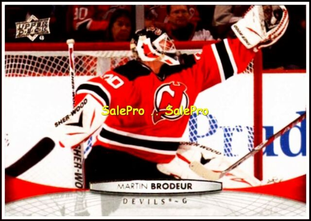 UPPER DECK 2011 MARTIN BRODEUR NHL NEW JERSEY DEVILS GOALIE MINT CARD #87