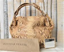 $4100 Authentic BOTTEGA VENETA Beige Python Duette Limited Edition Hobo Gold