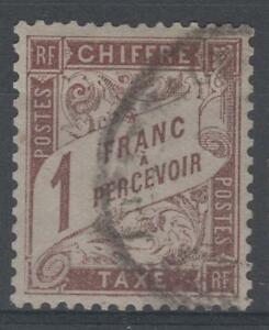 FRANCE-STAMP-TIMBRE-TAXE-N-25-034-TYPE-DUVAL-1F-MARRON-034-OBLITERE-TTB-N664