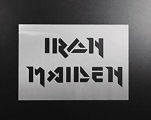 Image Is Loading Iron Maiden Logo Stencil Airbrush Wall Art Craft