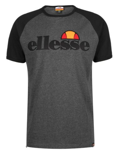 ellesse Classic Piave Crew Neck Raglan T-Shirt Retro Sports Top Casual Tee