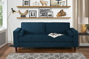 Image Is Loading Modern Fabric Loveseat Sofa Tufted Durable Fabric Living