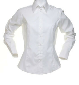 Kustom-Kit-Ladies-Corporate-Long-Sleeve-Oxford-T-Shirt-Tailored-Fit-Blouse-KK702
