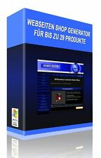 Webseiten Shop Generator für bis zu 29 digitale Produkte - diverse Lizenzarten
