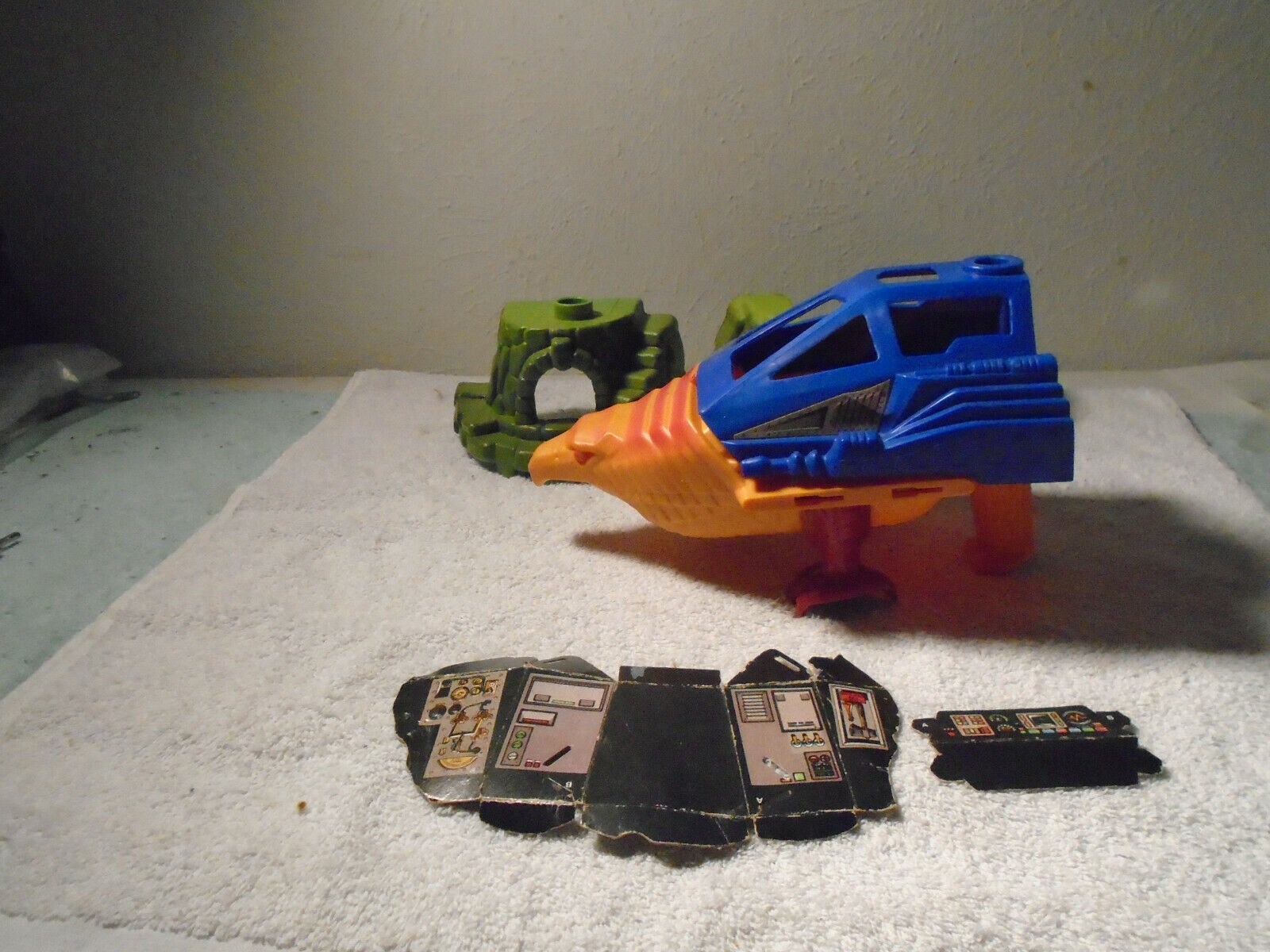 VINTAGE MASTERS OF THE UNIVERSE HE-MAN POINT DREAD TALON FIGHTER PARTS LOT