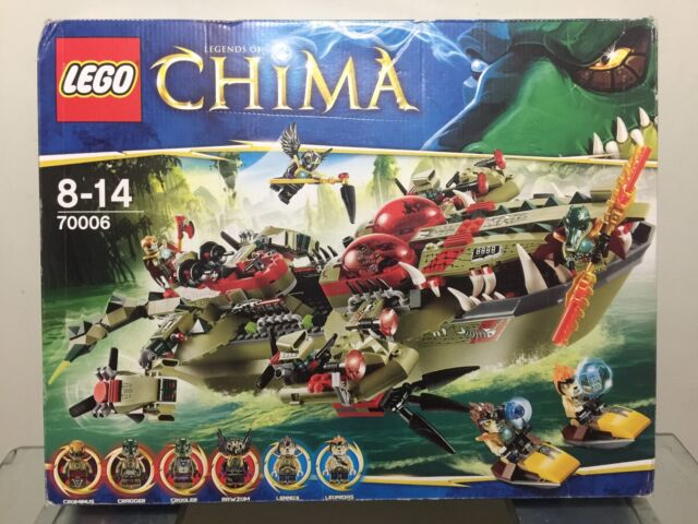 Ages 8-14 Y LEGO Legends of Chima Cragger/'s Command Ship 70006-609 pc set
