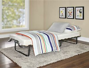 Memory Foam Ultimate Folding Bed With Mattress Casters Steel Frame