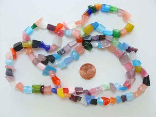 140 env perles chips verre OEIL DE CHAT mix couleurs DIY Création bijoux Déco