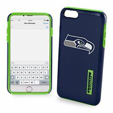 For iPhone 7 Plus Seattle Seahawks Dual Hybrid 2 Piece Protective Case NFL