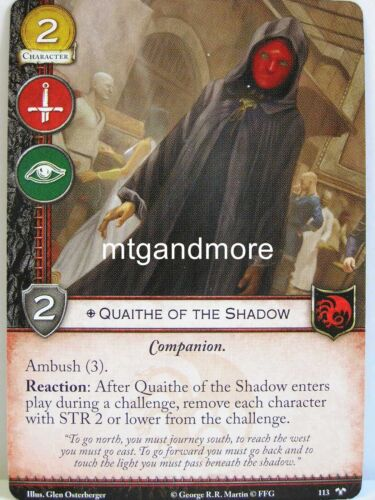 1x #113 quaithe of the shadow-tyrion /'s Chain A Game of thrones 2.0 lunaires