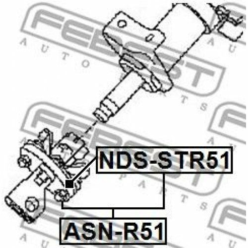 FEBEST Steering Column Coupling NDS-STR51