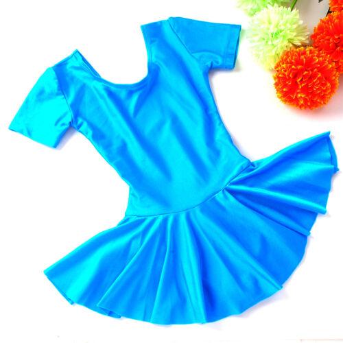 UK Seller Girls Kids Leotard Lycra Ballet Tutu Skirt Dance Dress Dancewear #326