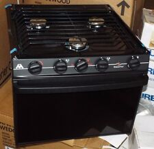 """Atwood 52380 17"""" Atwood 3-Burner Range With Black Glass Door Wedgewood Vision RV"""