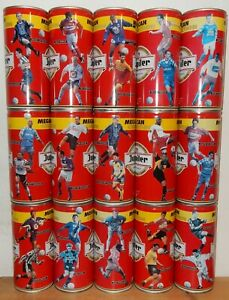 JUPILER-17-Soccer-Players-Beer-cans-from-BELGIUM-1-Liter-4-cans-little-faded