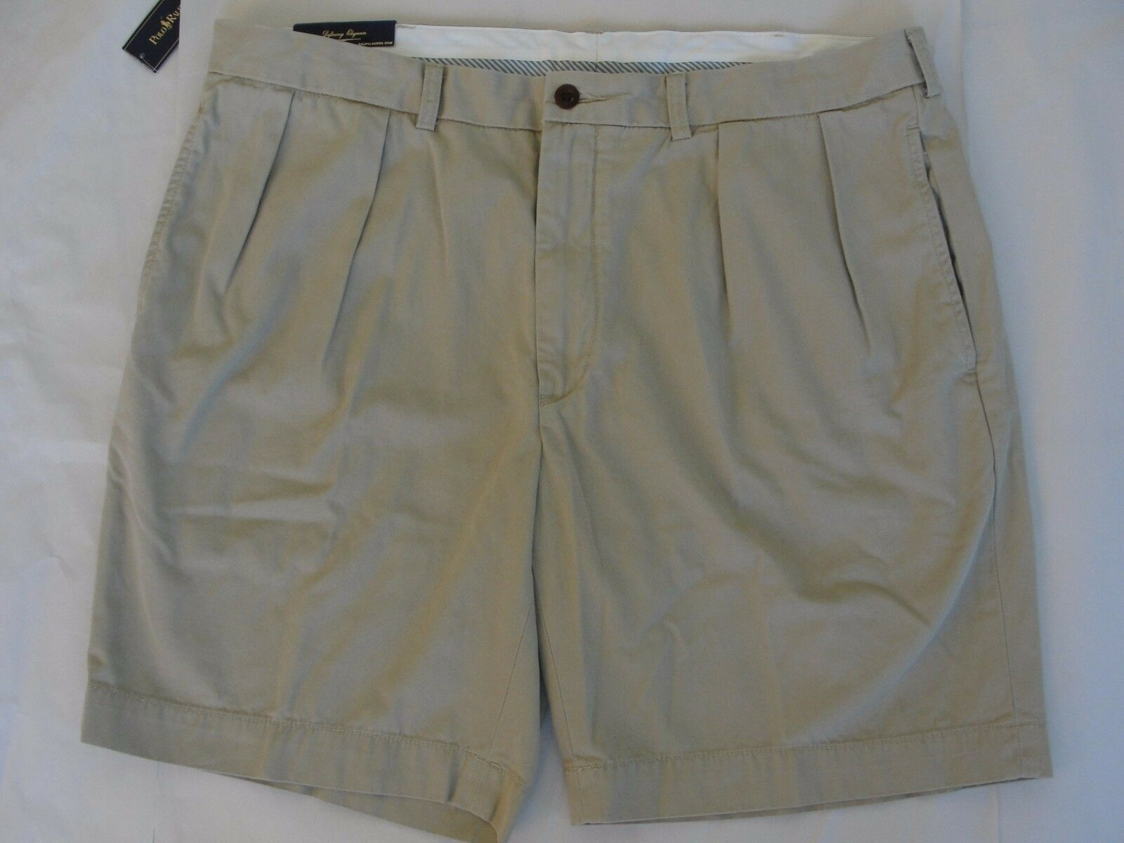 NWT  Polo Ralph Lauren Men's Shorts Sz 42 Khaki Pleated Front