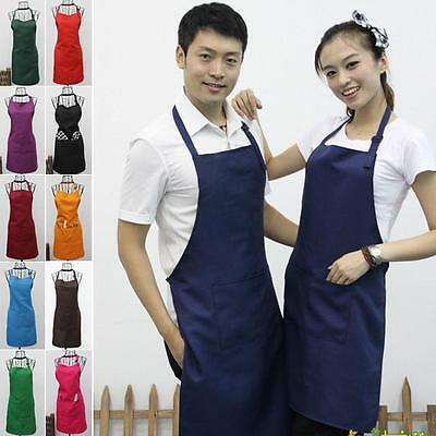Adult Child Practical Polyester Home Restaurant Kitchen Great Work Apron Orange