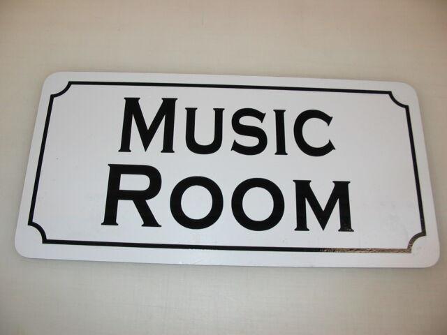 MUSIC ROOM Metal Tin Sign 4 indoor Drum Piano Violin Wind Flute Brass