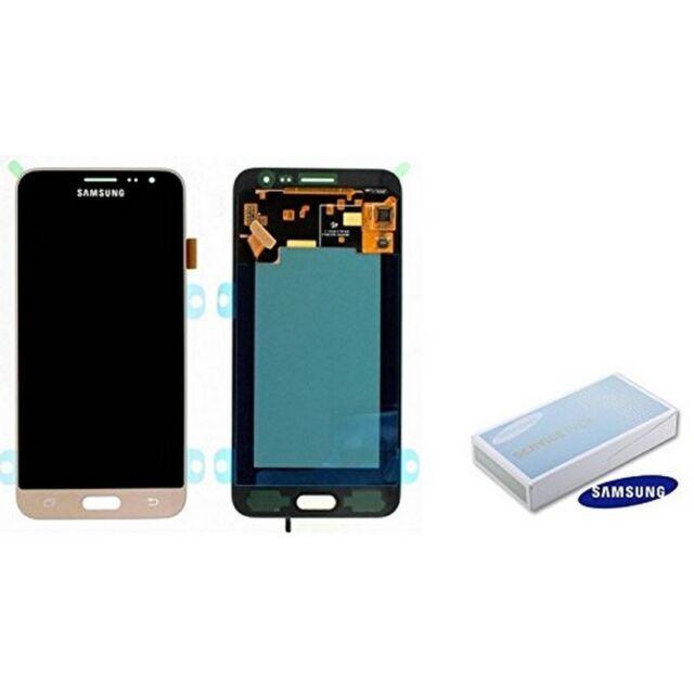 Samsung Service Pack LCD Display Pantalla Original Galaxy J3 2016 Oro