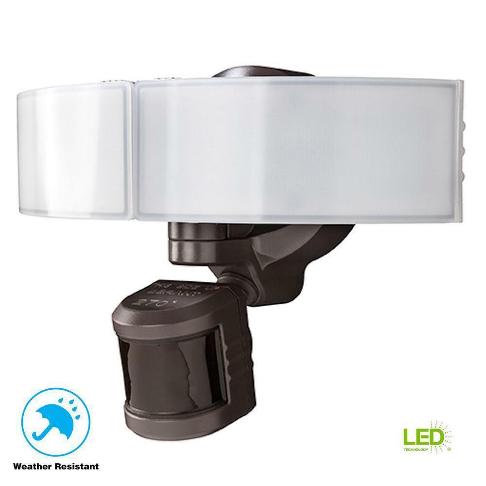Defiant 270 grados Bronce LED Luz de Seguridad para Exterior de movimiento azultooth