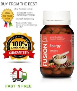 FUSION-HEALTH-ENERGY-60T-GINSENG-ASTRAGALUS-amp-CORDYCEPS-FREE-SHIPPING