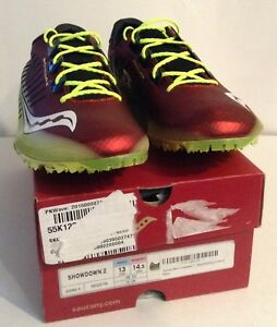 c52f7ddff480 Saucony Men s Women s Showdown 2 Track Cleats Sz M 13  W 14.5