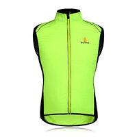 Tour De France Cycling Outdoor Sports Wind Coats Sleeveless Coat Green M-3xl
