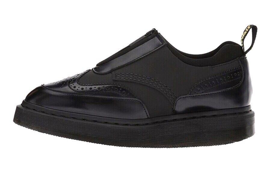 Dr Martens Resnik Cuir Richelieu à Oxford Zip Chaussures femme US 8 Noir Nouveau  145