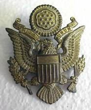 US Army Air Force Officer Cap Badge for Visor Peak AAF WW2 WWII Eagle Aged USA