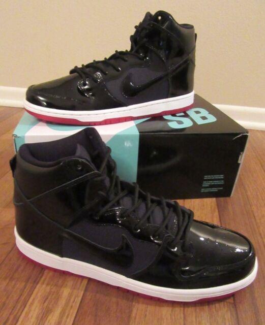 e8faef803df716 Nike SB Zoom Dunk High TR QS Size 11 Black Black White Varsity Red ...