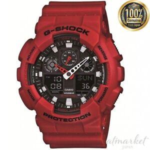 NEW-CASIO-Watch-G-SHOCK-GA-100B-4AJF-RED-Men-039-in-Box-genuine-from-JAPAN
