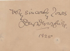 American Stage Actor DAVID WARFIELD 1925 AUTOGRAPH - INSCRIBED SIGNED     CARD