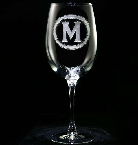 Personalized Monogrammed Wine Glasses (Set of 4) (m9)