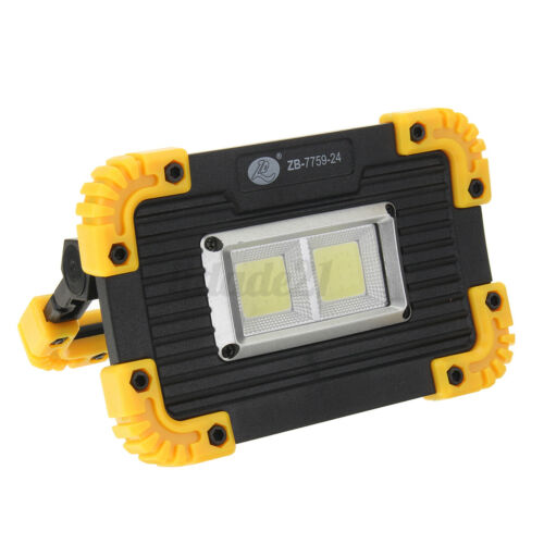 350W COB LED Work Light Rechargeable Flashlight Emergency Flood Lamp With Stand