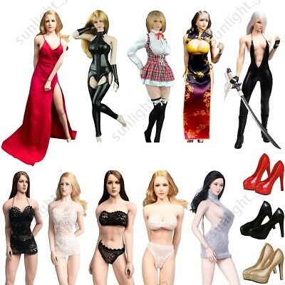 1//6 Scale Female Black Lingerie Clothing Set for 12 inch CY Girls Doll Body
