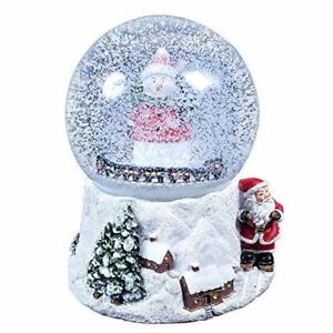 The Christmas Workshop 15cm Musical Christmas Snow Globe ...