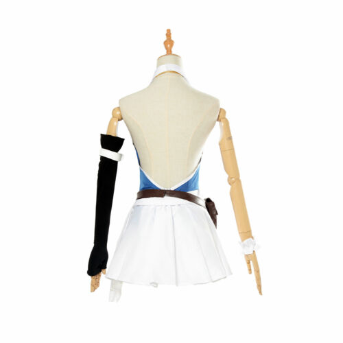 Fairy Tail 3rd Lucy Heartfilia Cosplay Costume Complete Full Set Uniform Dress Y