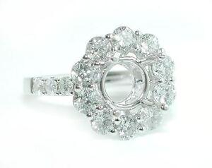 2-CT-DAZZLING-Large-Round-Halo-Diamond-Shank-Mounting-DIAMOND-Ring-Setting-14KWG