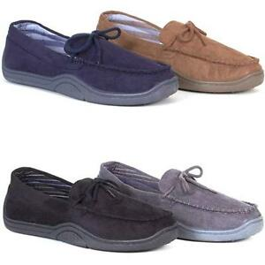 MENS-WARM-SLIPPERS-NEW-MOCCASINS-LOAFERS-FAUX-SUEDE-SHEEPSKIN-SLIP-ON-SHOES-SIZE