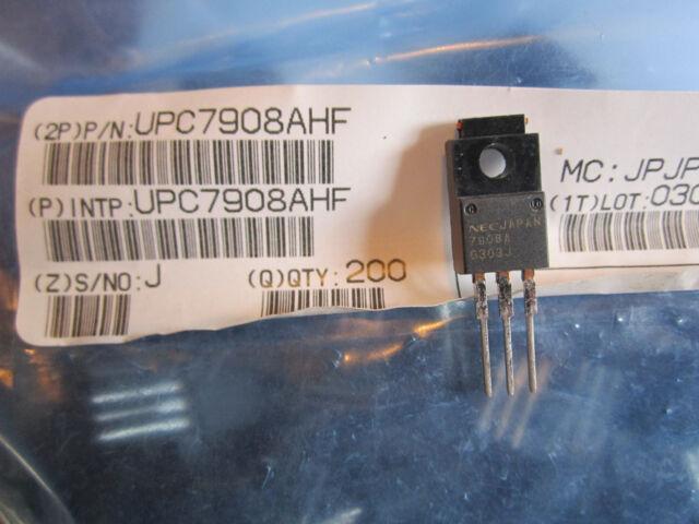 20 QTY UPC7908AHF NEC TO-220 8V NEG  VOLTAGE REGULATOR LM7908CT MC7908CT TYPE