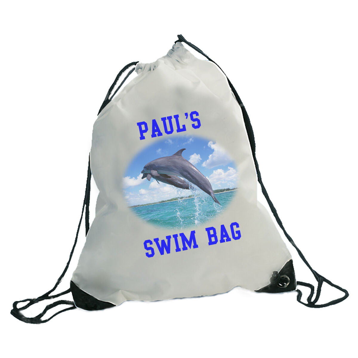 PERSONALISED GYM SPORTS SWIM BAG  - ANY PHOTO ANY TEXT  limited edition