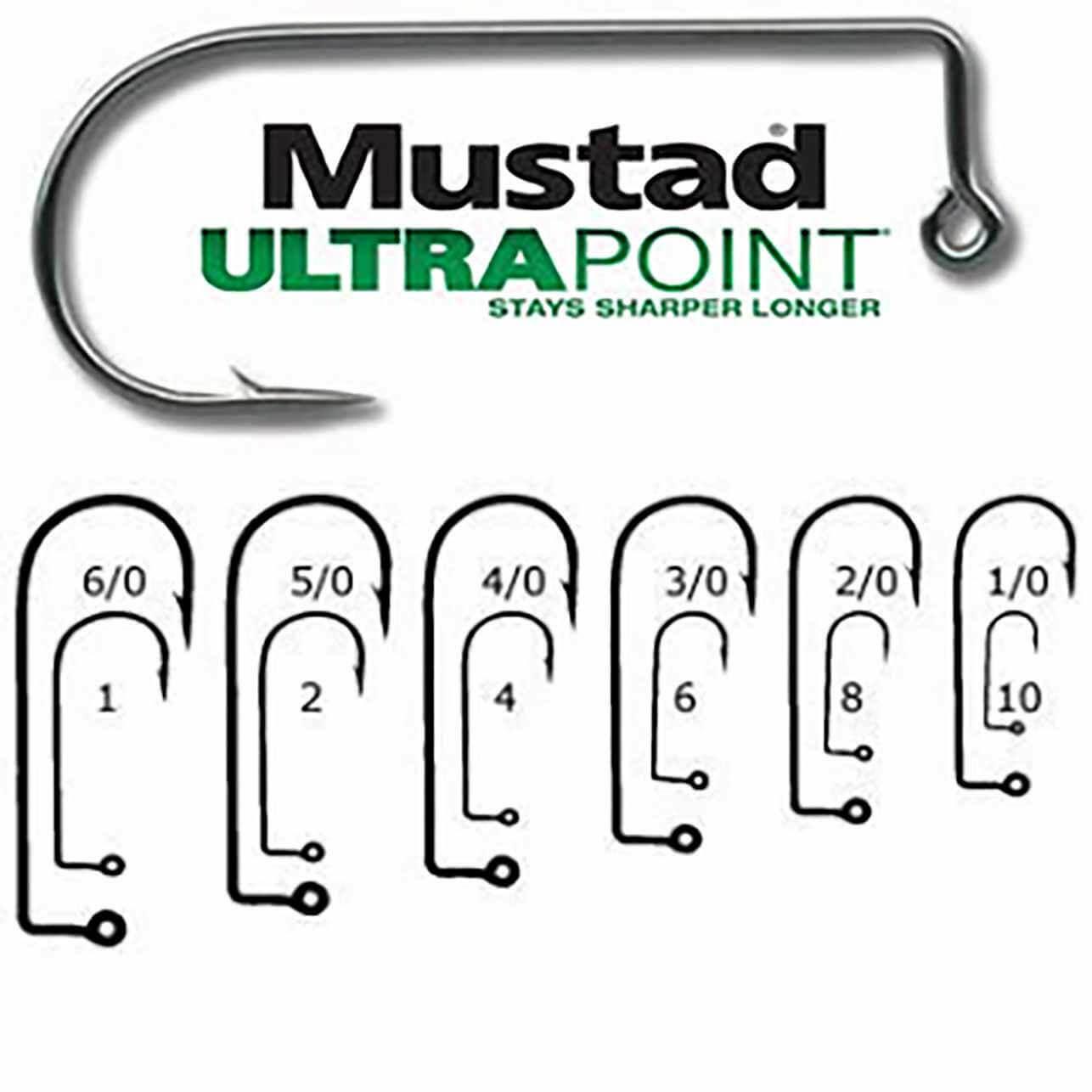100 Mustad 32833BLN 6 Ultra Point 2X Strong 90 degree Jig Hooks 32833NP-BN Molds