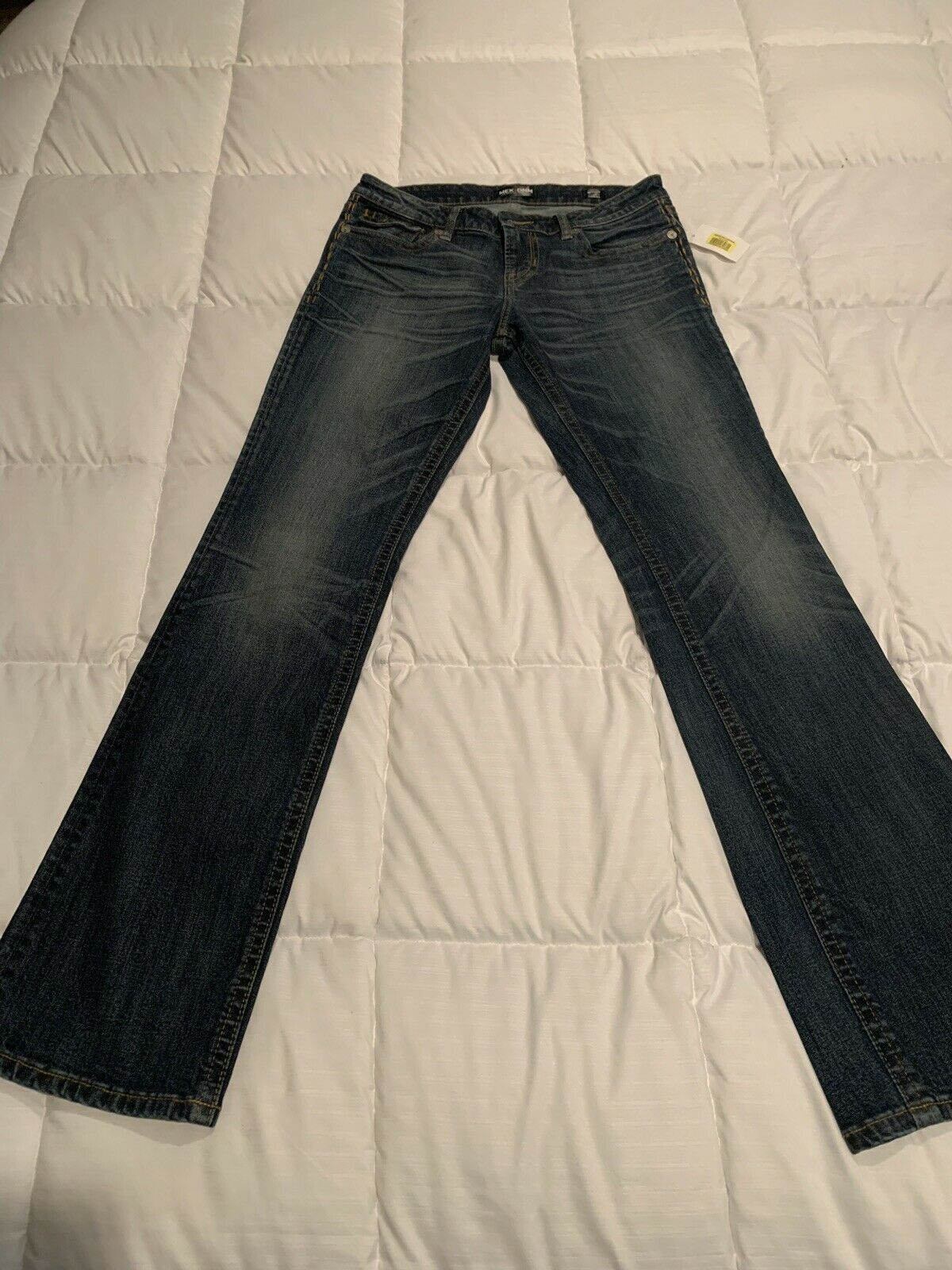MEK DNM Womens Size 29 Jeans Wyatt 34 Long Slim Boot