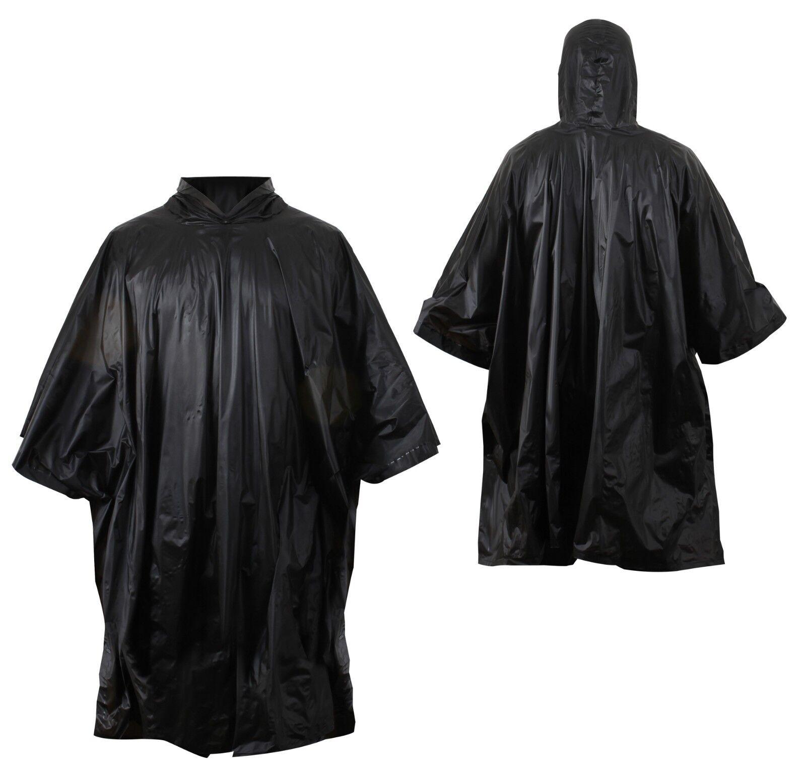 Style Style Style Militaire Poncho Pluie Tente Abri Noir Rothco 4958 1c0b60